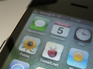 iPhone mit Tomatl.net (Bildquelle: Henry)