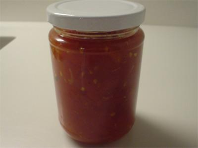 Rote Tomatenkonfitüre (Bildquelle: Henry)